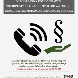 Plakat Nieodpłatna Pomoc Prawna
